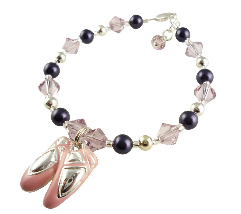 Ballet Charm Bracelet: Ballet Shoe Charm Bracelet Dance Bracelet For Girls Recital