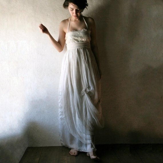 Wedding dress, Hippie Boho Wedding dress, Beach wedding dress, Maternity wedding dress, Plus size dress, 1920s Wedding dress