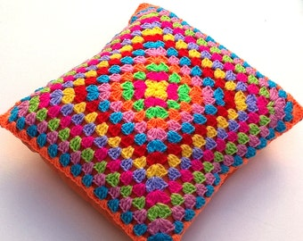 Bright Crochet Cushion / Pillow Cover
