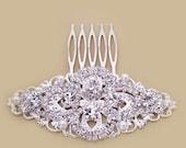 Bridal Crystal Hair Comb, Wedding Rhinestone Hair Comb, Old Hollywood Bridal Hair Accessories, Wedding Hair Accessories, Bridal Headpiece