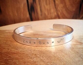 Personalized Wide Cuff Bracelet