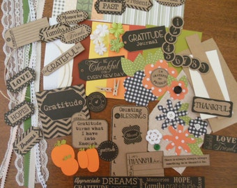 DIY Thanksgiving Project Kit for Mini Albums, Junk Journals, Scrapbook Pages and Cards
