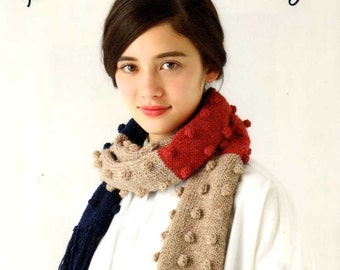 Adult's Knit Mufflers and Snoods 50 - Japanese Craft Book