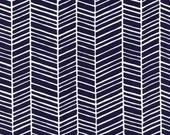 CLEARANCE 1.75 Yards Joel Dewberry Herringbone in Lake Fabric