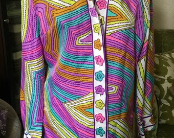 Alex Colman vintage polyester tunic shirt   Like new!  Sz 12? Suess!