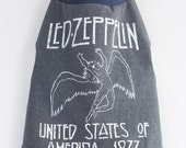 Led Zeppelin l large band music rock dog tshirt 1977 North American Tour band concert