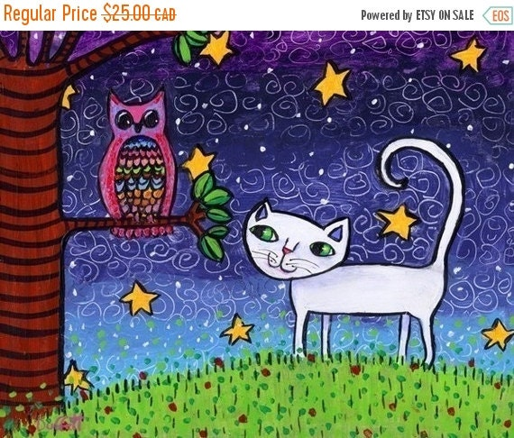 ON SALE Owl and the Pussycat - Print