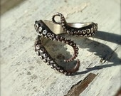VDay SALE SALE- Knuckle Ring, Pinky Ring, Midi Ring, Wicked, Tentacle Ring, Octopus Jewelry