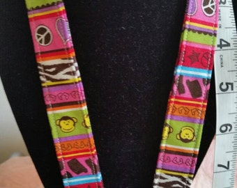 Peace, Love, and Funky Monkey Lanyard