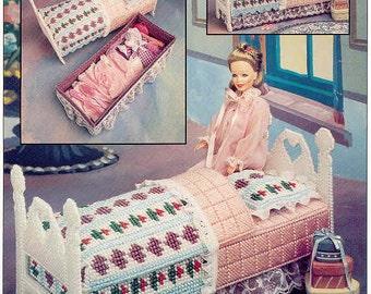 Fashion Doll Storage Bed ~ plastic canvas pattern  ~  Annie's