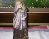 RESERVED Special ORDER for VA Sweet Girl Art Cloth photo Doll