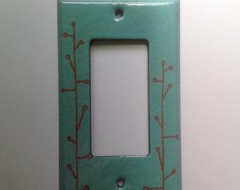Enamel branch switch plate