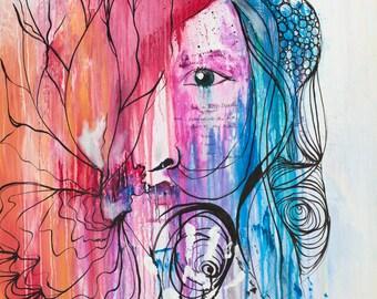 I AM-healing art print and original