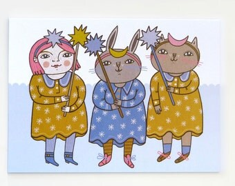 Stargirls - Greeting Card
