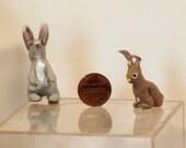 Dollhouse miniature rabbit