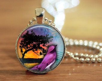 Songbird Necklace, Songbird Pendant, Sounds of Nature, Nature Jewelry, Music Lover, Bird Lover, Nature Lover, Gift for her