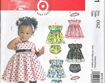 McCalls 5791 Infants Dress Panties Headband Sewing Pattern Sizes S-XL Out of Print UNCUT