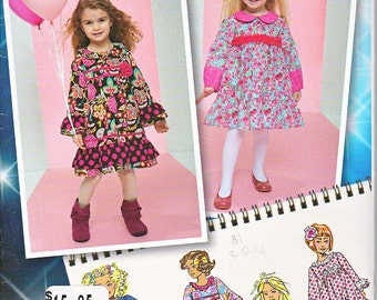Simplicity 1547 Baby Girls Toddlers Dresses Ruffles Trim Variations Sewing Pattern Sizes 1/2-3 Out of Print UNCUT