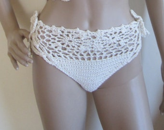 HIGHWAIST BIKINI BOTTOMS, Crochet bikini  swimwear,  flower bikini, crochet bikinis, swimwear, bathing suits, swimsuits, bikinis, beachwear