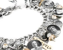 Books Bracelet, Personalized Books Jewelry, Writers Jewelry, Literary Jewelry, Writers Bracelet, Books Charm Bracelet, Author, Novel