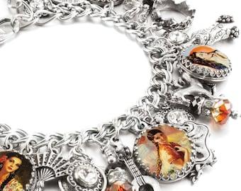 Spanish Charm Bracelet, Spanish Bracelet, Spanish Jewelry, Spain Jewelry, Spanish Charm Bracelet