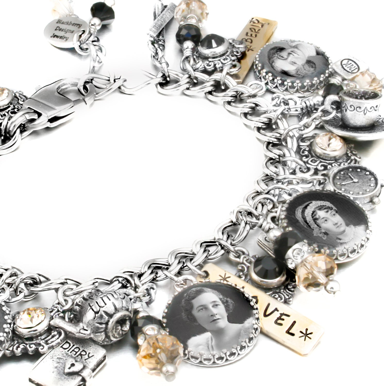 books bracelet personalized books jewelry writers jewelry. Black Bedroom Furniture Sets. Home Design Ideas