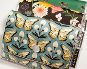 Handmade Vinyl Accordion Wallet - Wingspan / small wallet, cute wallet, card case, vinyl wallet, gift, women's wallet, butterfly wallet