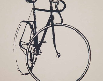 Bicycle Art - Track Bike - Little Print
