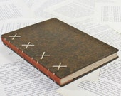 Large Brown Hardcover Journal with Reindeer Leather Spine