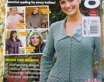 2 Simply Knitting Magazines with Alan Dart Patterns
