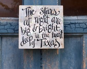 Deep In the Heart of Texas Map Sign - fathers day - Texas - Big Bend - geology
