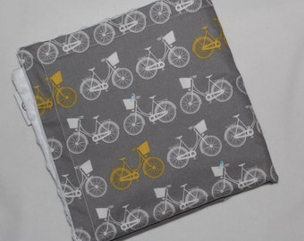 Gray Whimsical Wheels Minky Security Blanket Lovey