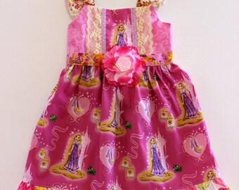 Rapunzel Dress, princess dress, toddler dress, boutique dress, girls dress,