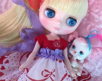 Valentine's Day.. Middie Blythe.. Doll Dress...Handmade and Ooak