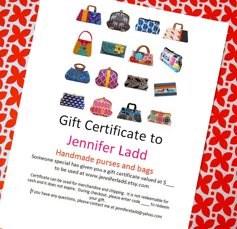 30 dollar gift certificate to jennifer ladds shop etsy gift card jennifer ladd 1betcityfo Choice Image