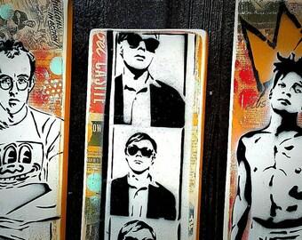 Pop Art Kings Painting on Canvas Pop Art Style Original Artwork Stencil Urban Street Art Andy Haring Basquiat
