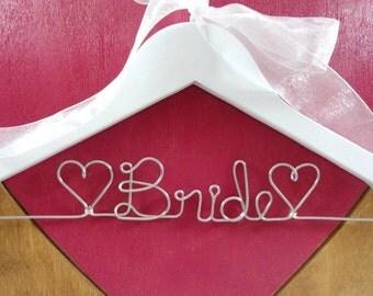 Bridal Hangers - Wedding Dress Hangers - Bridal Accessories - Bride Coat Hangers - Gift for Bride - Bride Dress Hanger - Bride Hangers