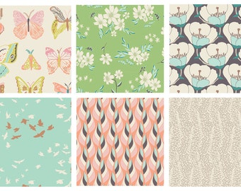 FAT QUARTERS - Winged by Art Gallery Fabrics Bundle