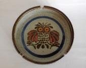 Vintage Stoneware Owl Ash Tray
