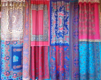 AFFAIRS Of The HEART - Bohemian Gypsy CURTAINS Handmade by Babylon Sisters