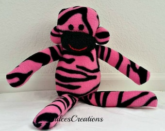 Pink zebra monkey ready to ship
