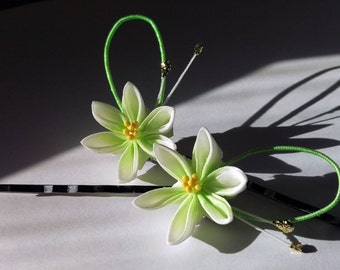 Lily Kanzashi Hairpins