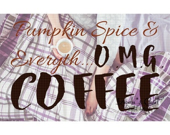 Pumpkin Spice Coffee SVG Vector Printable Cutable