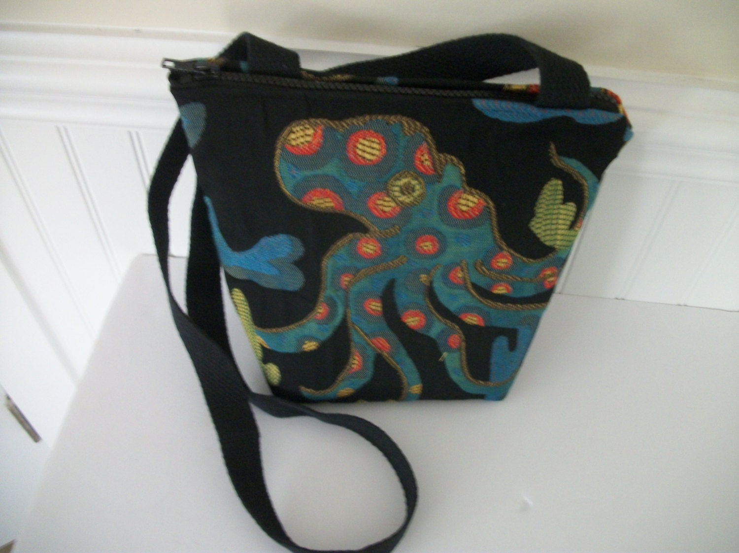 Octopus Upholostery Fabric Black Bag 1a93372eaa583
