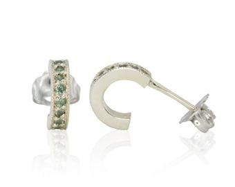 Natural Alexandrite Earrings, June Birthstone Alexandrite Mother's Earrings in 14kt White Gold - LS3012