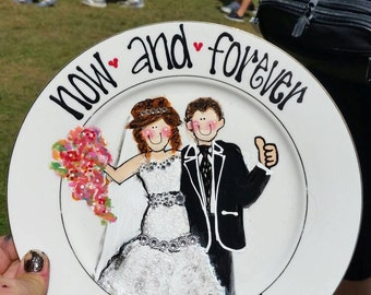 Custom plate for the happy couple!