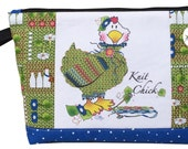 "Kit for Knit Chick Zippered Pouch - 6"" Art Panel"