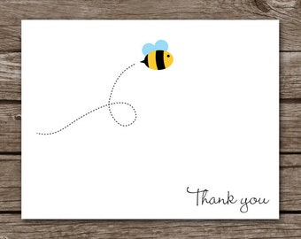 PRINTABLE Bee Cards, Bee Note Cards, Bee Thank You, Personalized Note Cards