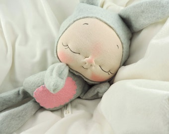 Plush Bunny Rabbit Doll by BeBe Babies
