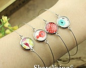 20% OFF SALE - 20pcs Silver Bangle Bracelet With 12mm Round Cameo Setting  RI852
